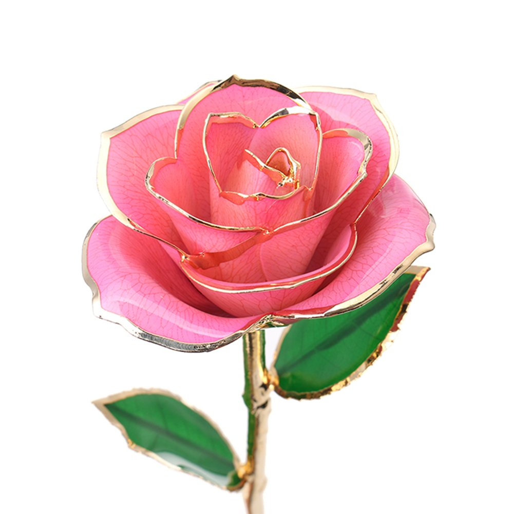 Ciamlir Forever Love 24k Golden Foil Rose With Long Stem Best Gifts