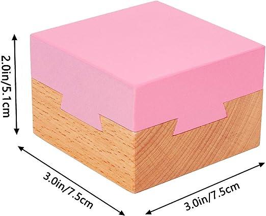 DC-BEAUTIFUL Caja mágica de Madera para el Cerebro, Caja de Regalo Secreta Rosa, Caja de Rompecabezas Imposible para cumpleaños, San Valentín: Amazon.es: Juguetes y juegos