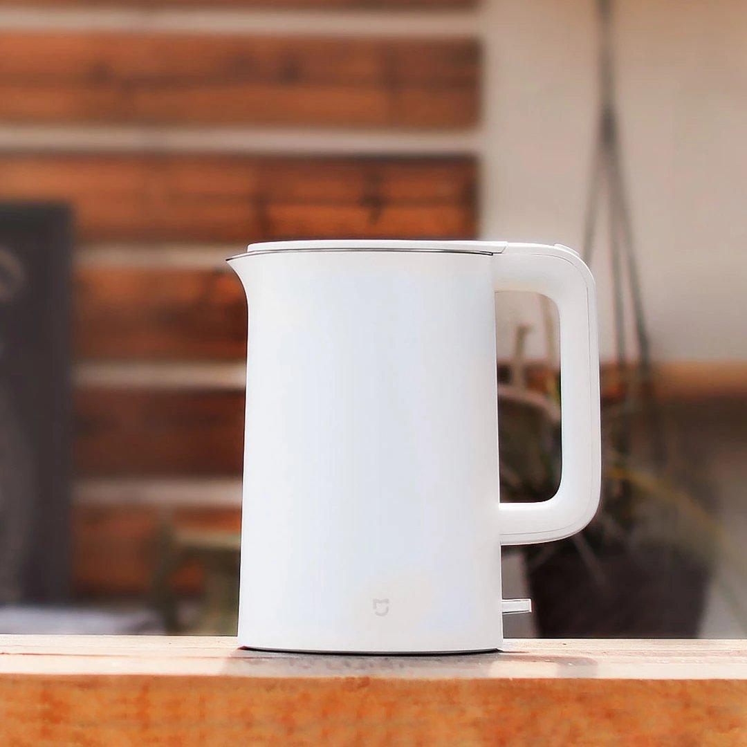 BuyYourWish Xiaomi Mijia - Hervidor de agua eléctrico (1,5 L, acero inoxidable 304, 1 pieza): Amazon.es: Hogar