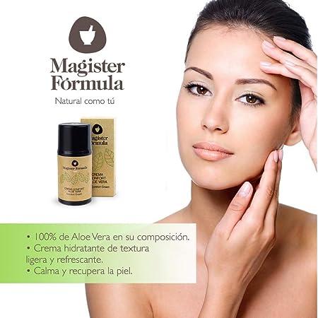 Crema Aloe Vera Hidratante Confort 50 ml | Extracto de Aceite 100% Puro | Todo tipo de piel | Regeneradora facial | Antiedad, Antiarrugas y Antimanchas | Mujer y Hombre | Magister Formula