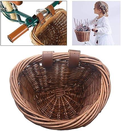 1 PC Children Bike Basket Wicker Bycicle Basket for Umbrella Handbag