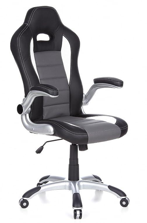 Bürostuhl weiß grau  hjh OFFICE 621710 Gaming-Stuhl Bürostuhl RACER SPORT Kunstleder ...