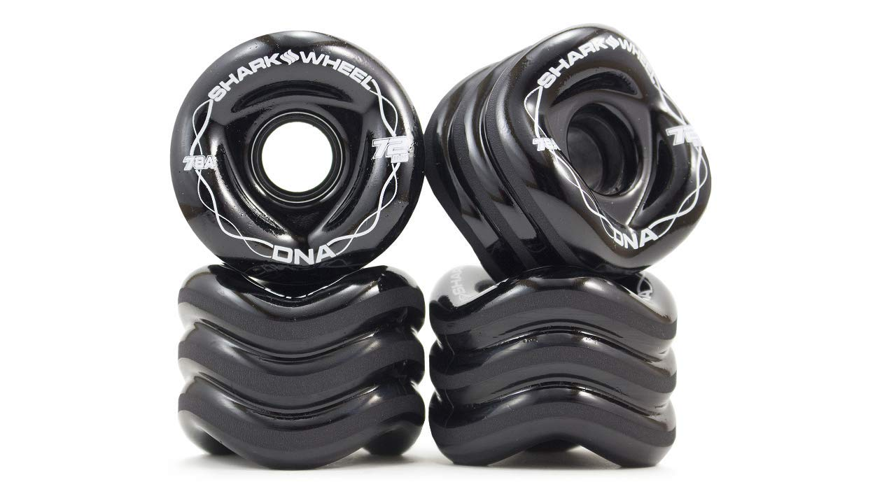 Shark Wheel 72mm DNA Formula Longboard Wheels (Black) by Shark Wheel