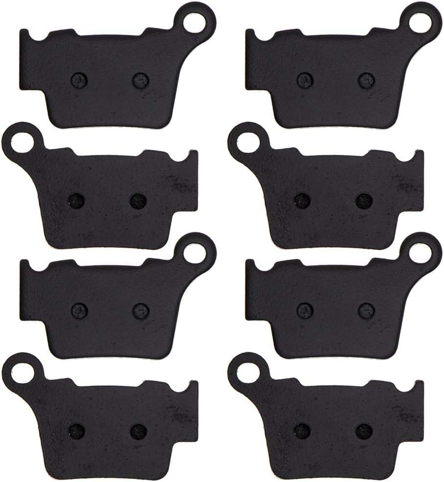 NICHE Brake Pad Set For Husaberg Husqvarna FE350 TC250 TC125 54813090300 54813990200 Rear Semi-Metallic 4 Pack