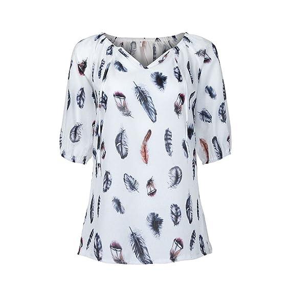 1f2b01bc5561 Camisetas Mujer Verano Tumblr LANSKIRT Camisas con Botón de Manga ...