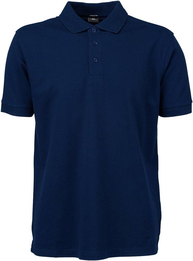 Tee Jays Polo elástico Hombre Azul Azul Marino XX-Large: Amazon.es ...