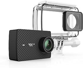 YI Cámara de Acción 4K+/60FPS con Funda Impermeable, Control de Voz, Reproducción en Vivo, y 12MP Imagen cruda (Negro)