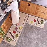 2 PCS Rug/Carpet ,Unique Room Floor Mats,Modern Kitchen Washroom Door Rugs Bay Window Rugs (19.7+31.5,19.7+63 Inches)