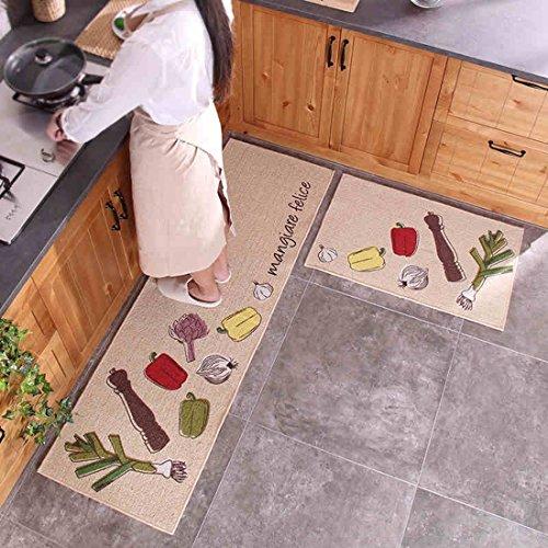 2 PCS Rug/Carpet ,Unique Room Floor Mats,Modern Kitchen Washroom Door Rugs Bay Window Rugs (19.7+31.5,19.7+63 (Bay Cocktail Table)