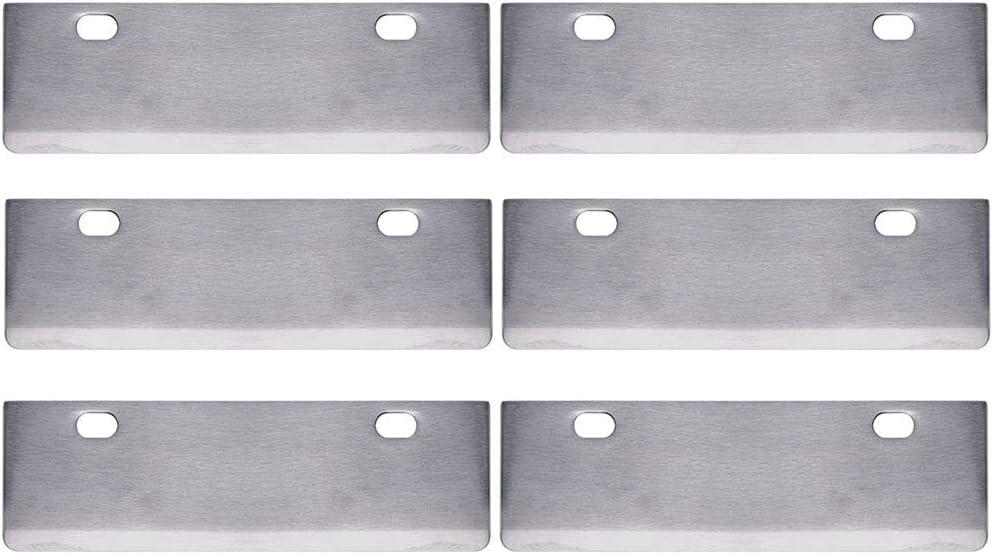 SHANGPEIXUAN - Cuchillas de Repuesto para raspador de Parrilla de asador Resistente al óxido, Herramientas de Barbacoa y Accesorios para Exteriores, Paquete de 6: Amazon.es: Jardín
