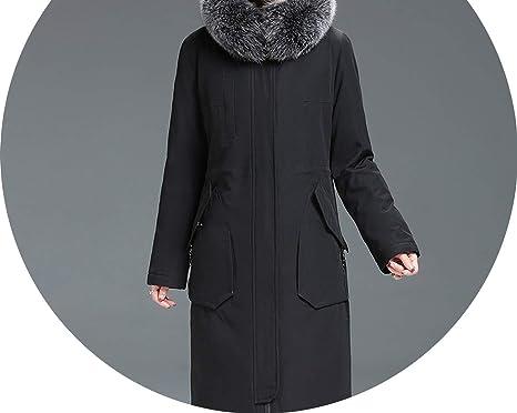 Winter Warm 90% White Duck Down Jacket Women Long Down Coat Padded Hooded Parkas,