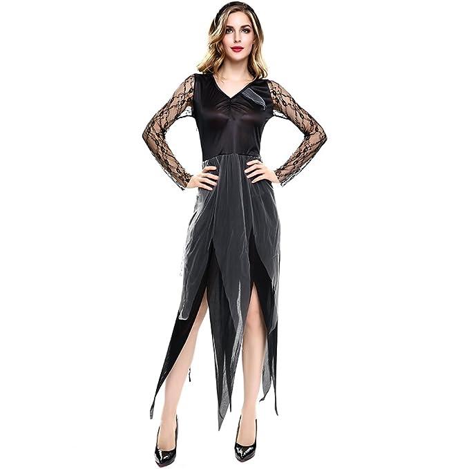 YiZYiF Donna donne Vampire Costume da strega Halloween sera Costume Cosplay  Costume da donna con fascia 2ceac3e2738e