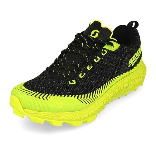 Scott - Zapatillas de Running de Tela, sintético para Hombre Negro Negro Amarillo: Amazon.es: Zapatos y complementos