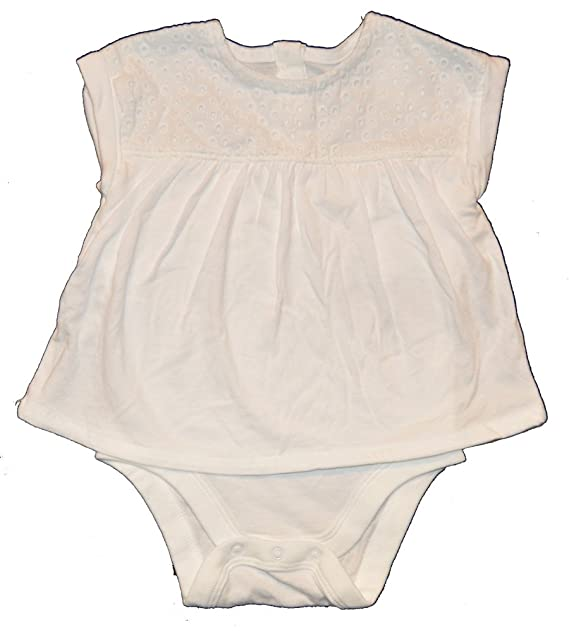 2834a2f917c Image Unavailable. Image not available for. Color  Baby Gap Girls White  Eyelet Romper ...