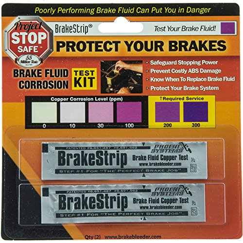 Phoenix Systems (3003-B) Brake Fluid Test Strips, 2 Strips Per Package, Reveals Brake Fluid (1975 Plymouth Pb100 Brake)