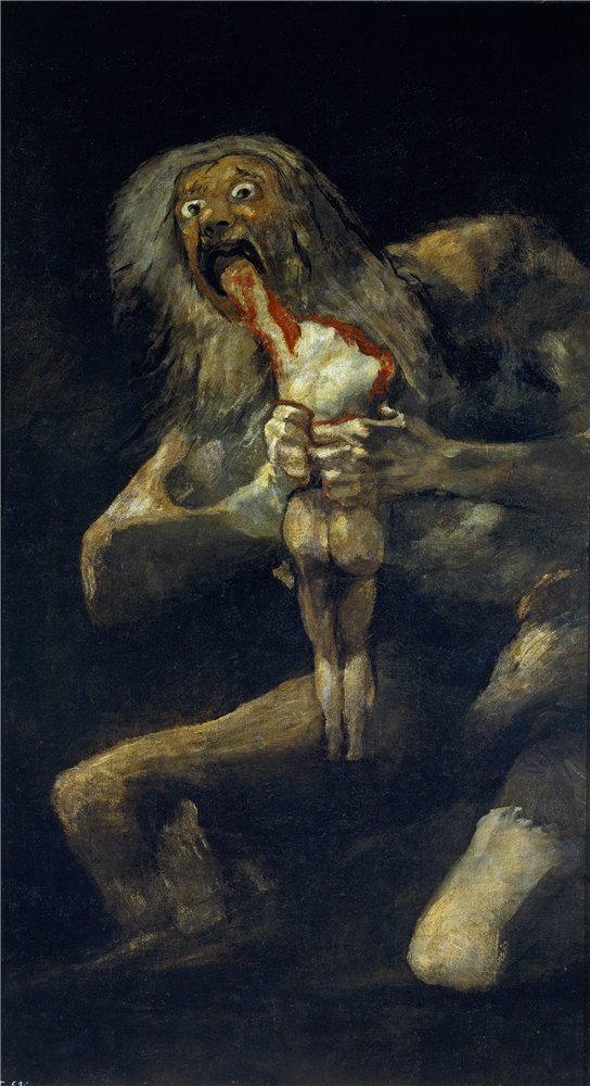 'Goya Y Lucientes Francisco De Saturn Devouring One Of His Sons 1821 23 ' Oil Painting, 24 X 44 Inch / 61 X 112 Cm ,printed On Polyster Canvas ,this High Definition Art Decorative Canvas Prints Is Perfectly Suitalbe For Kids Room Artwork And Home Decor An