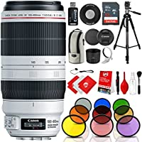 Canon EF 100-400mm f/4.5-5.6L IS II USM Lens Kit with 9 Piece Solid Color Filter Kit, 72 Tripod and Bundle