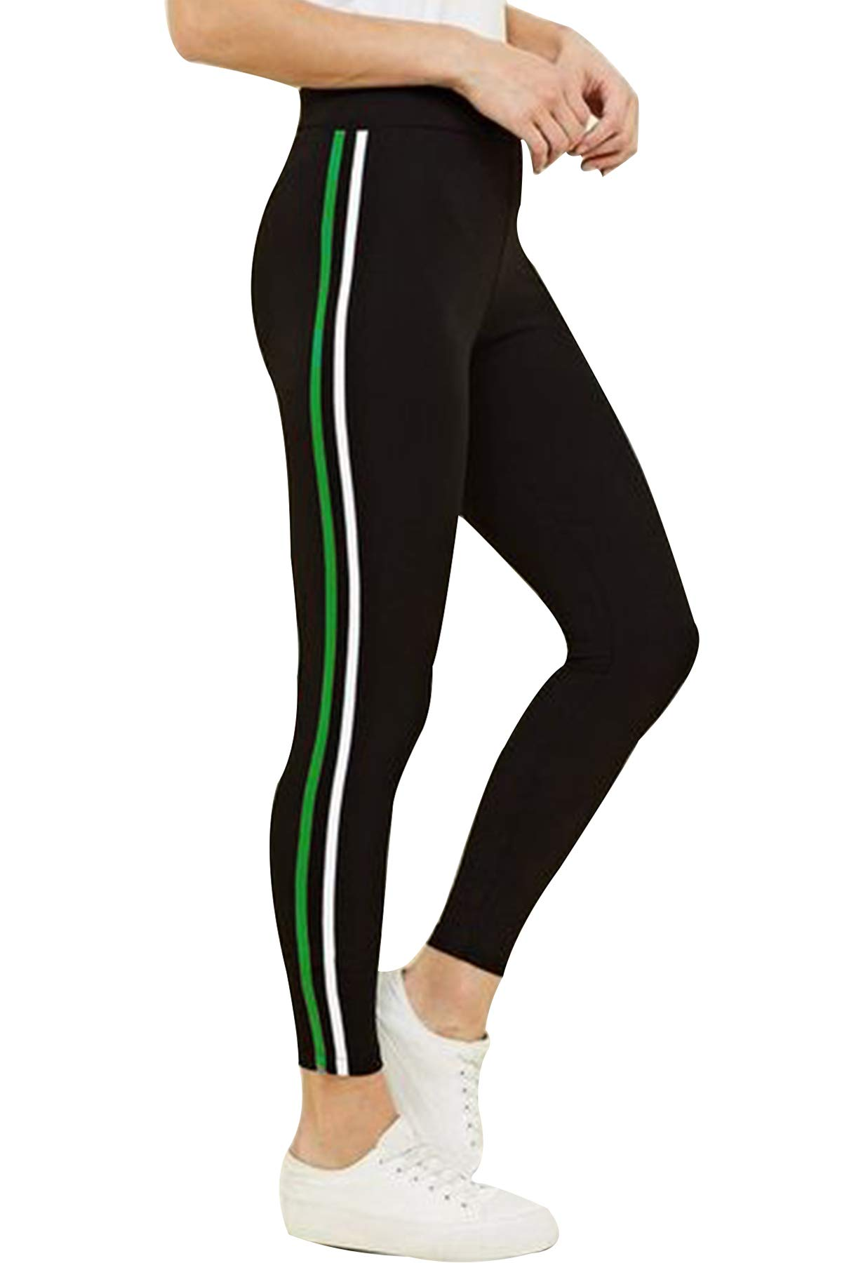 Amazon price history for BLINKIN Yoga Gym Workout and Active Sports Fitness Black Stripe Polyester Leggings Tights for Women|Girls(5550) (size-28)