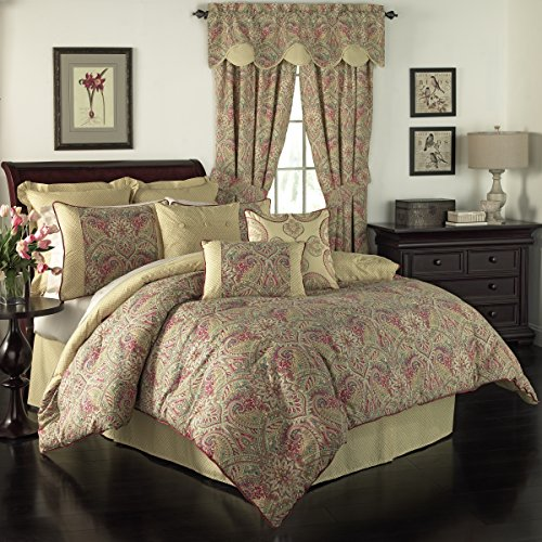 WAVERLY Swept Away Bedding Collection, Queen, Berry ()