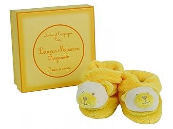 d28f6ac11ebd4 Doudou et Compagnie - Chaussons bébé - Collection   Doudou Macaron Ours  Bergamote - DC2077 -