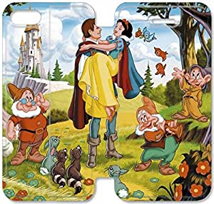 Disney Snow White And The Seven Dwarfs Character-2 iPhone 6/6S Plus 5.5 Inch Leather Flip Case Protective Cover New Colorful