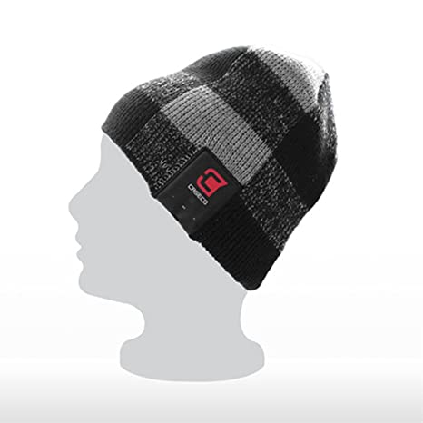 09f3cfd8fac Amazon.com  Caseco Blu-Toque Dual Layered Bluetooth Knit Hat with ...
