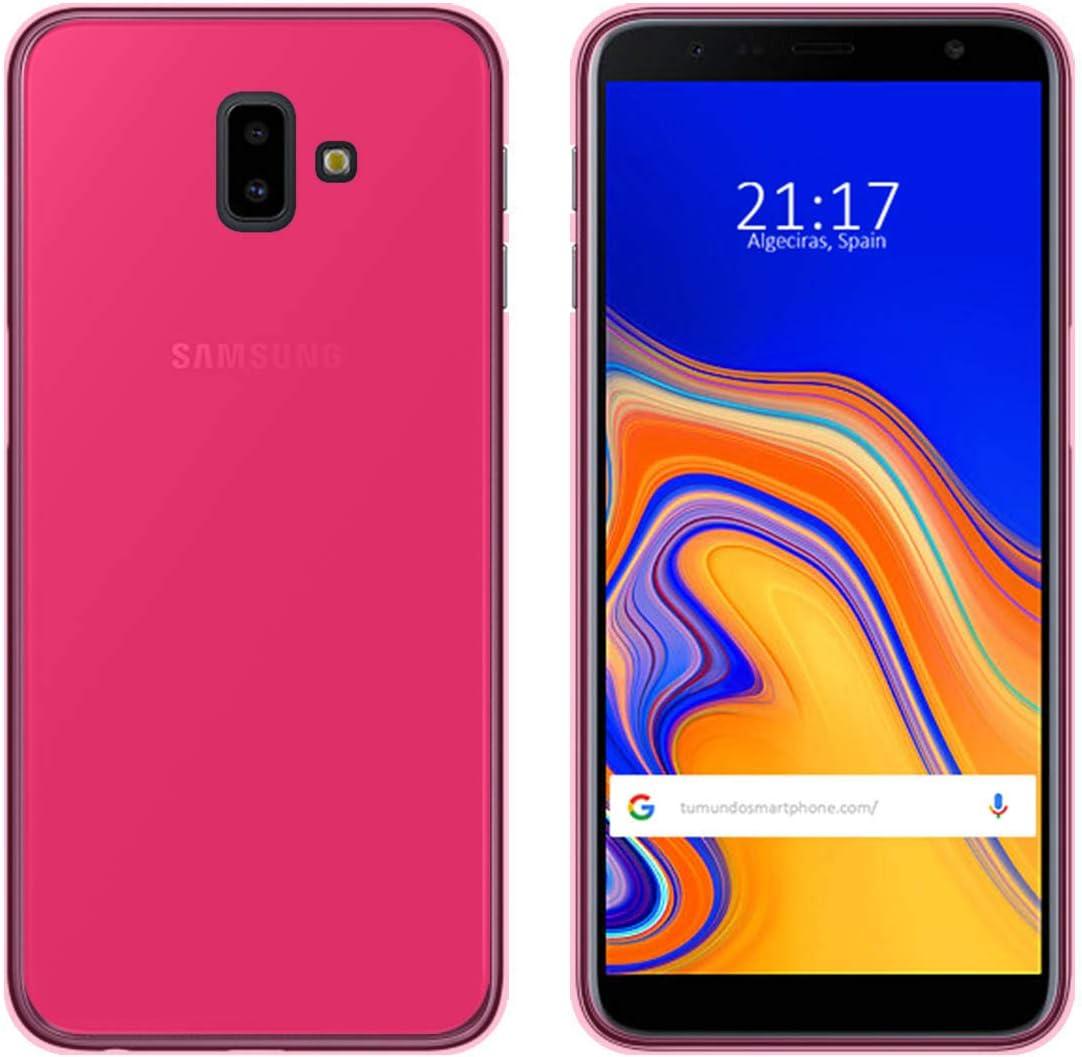 Tumundosmartphone Funda Gel TPU para Samsung Galaxy J6+ Plus Color ...