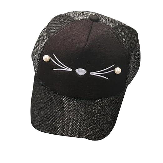 086e6437ae0 Vibola Baby Boy Girl Infant Sequins Letter Baseball Child Snapback Hip Hop  Hat Cap (Black