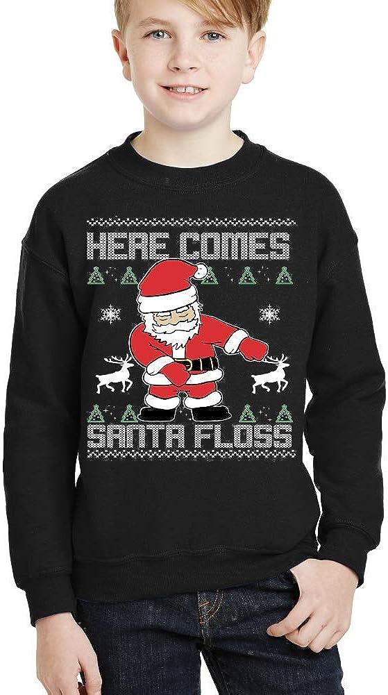 Floss Like a boss Santa Claus Youth Funny Ugly Christmas Sweater Kids Sweatshirt