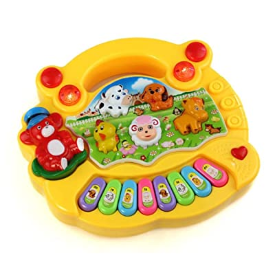 Covermason Nouveau Utiles Populaire bébé Kid Animal Farm Piano Music Toy Developmental (jaune)