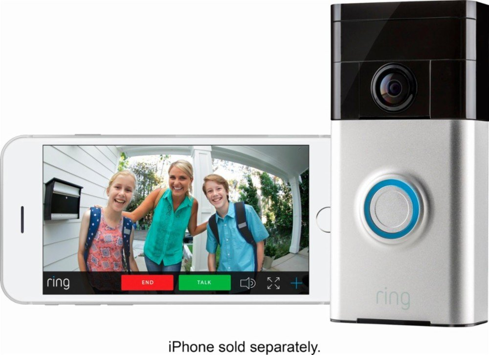 Brand New/Sealed Ring Wi-Fi Smart Video Doorbell with Installation Tools (Satin Nickel) by Ring_Doorbell (Image #2)