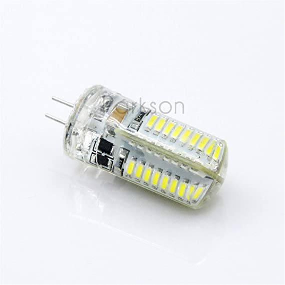 LED G4 3014 SMD 3W 5W DC 12V G4 LED Lamp 20W Halogen lamp g4 led 12v Corn Bulb Silicone Lamps Cold White - - Amazon.com
