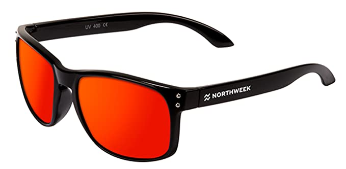 Gafas de sol sunglasses Northweek BOLD SHINE BLACK - RED POLARIZED