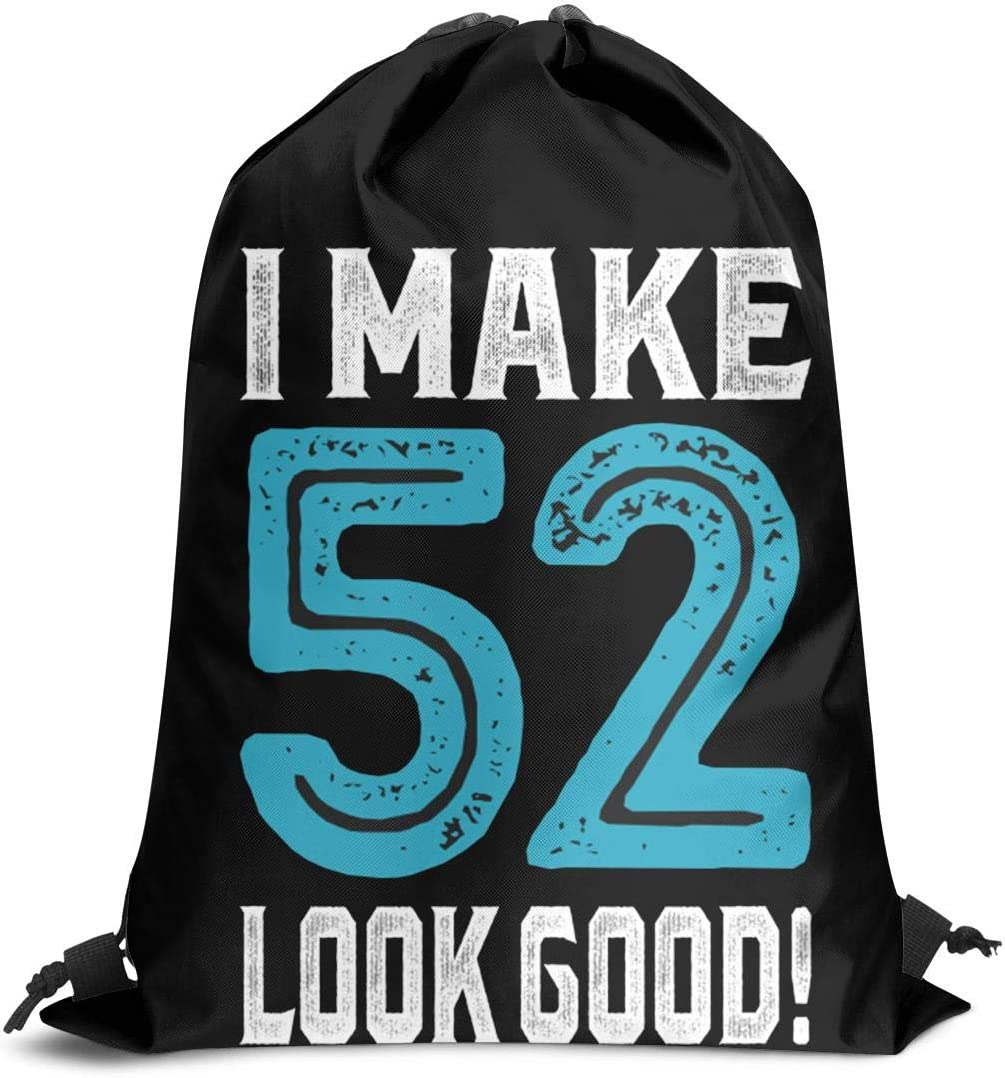 GUYI3 Shoulders Waterproof Unisex I-Make-52-Look-Good Drawstring Bags for Women /& Men