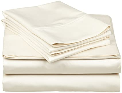 1000 Thread Count Soft Egyptian Cotton Ivory Solid Fitted //Duvet Set //Sheet Set