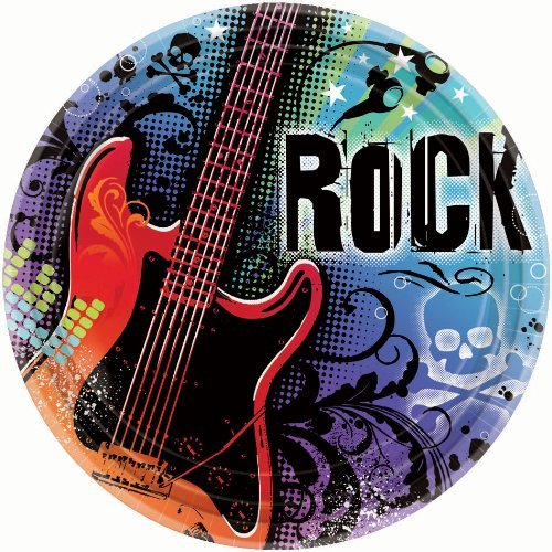 Rock Star 7 Inches Dessert Plates Package of 18