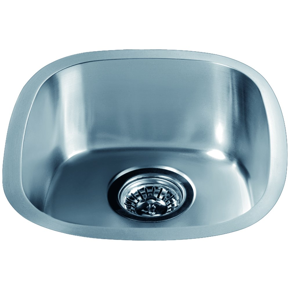 Dawn 3237.0 Undermount Single Bowl Bar Sink, Polished Satin