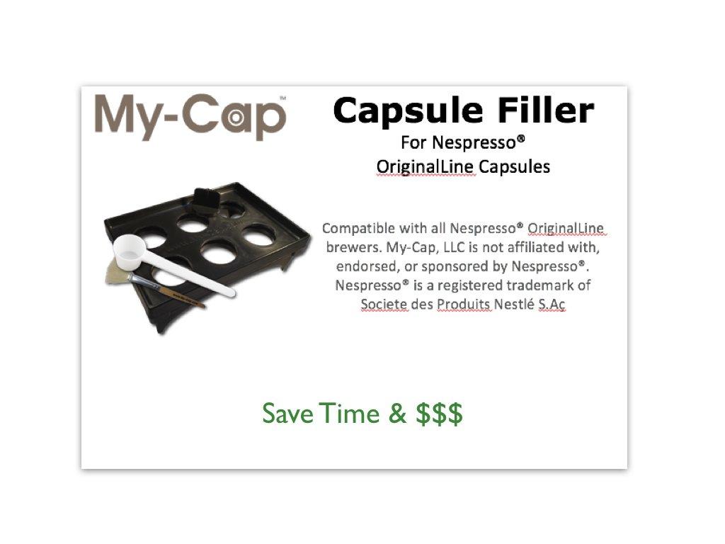 My-Cap Capsule Filler for Nespresso OriginalLine Capsules