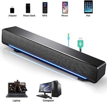 Altavoces HiFi PC, Estéreo 3D, con Cable 3.5mm Connector, Móviles ...