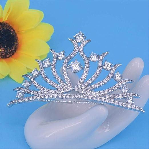 Honneury Diamante circonio Cristal Novia Pelo Boda Accesorio ...