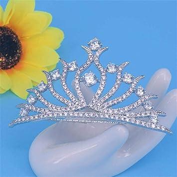 KAILLEET YY6 Diamante circonio Cristal Novia Pelo Boda ...