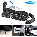 Helen Butler 5 in 1 Upgraded Car Rooftop Doorstep Folding Ladder Foot Pegs Easy Reach to Car Rooftop Roof-Rack, Vehicle Latch Door Step, Tire Stopper Safety Hammer for Jeep SUV Off-Road Car Upgraded Car Doorstep