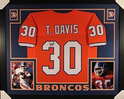 Terrell Davis Signed Jersey - Framed Orange XL 20160 - JSA Certified - Autographed  NFL Jerseys 3cdaa113e