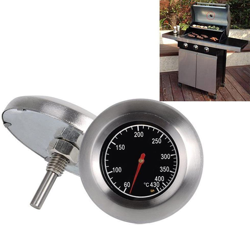 BESTOMZ hermom/ètre Pour Barbecue Grille En Acier Inoxydable Outils De Barbecue BBQ Grill Thermometer Temp Gauge