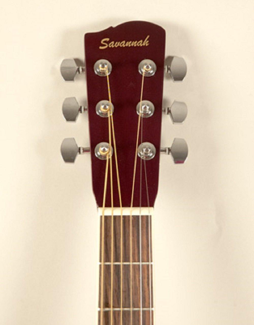 Savannah SGP-12-NA 0-Style Acoustic Guitar, Natural