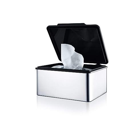 Blomus Menoto Caja para Toallitas Húmedas, Caja para Paños Húmedos, Acero Inoxidable Pulido,