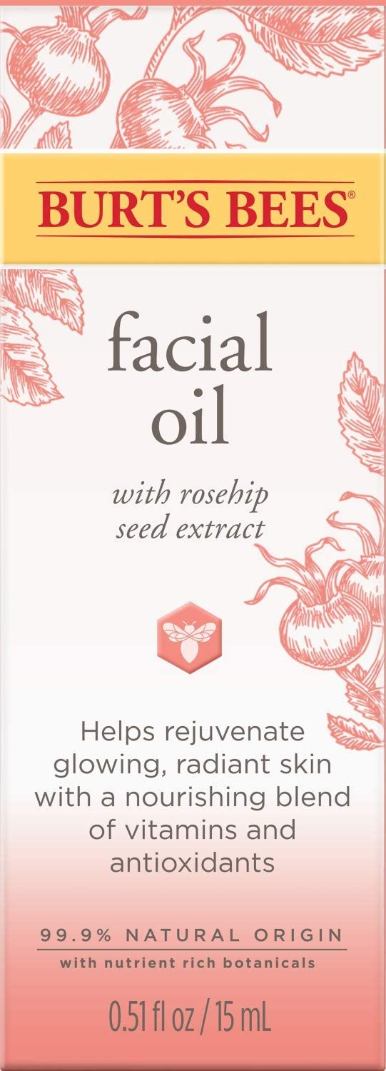Burt's Bees Facial Oil with Rosehip Extract, 0.51 Oz (Package May Vary): Beauty
