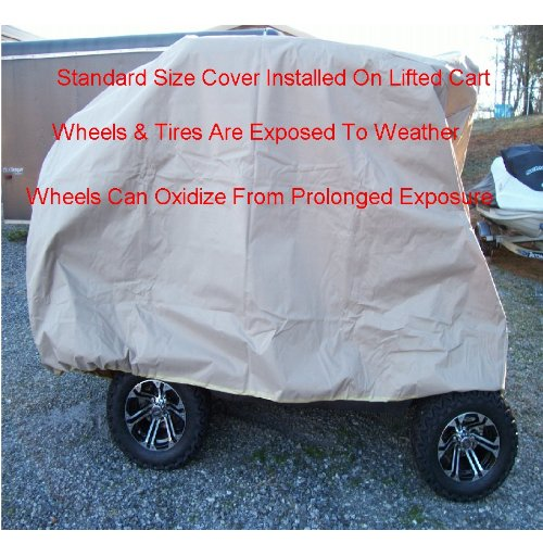 Golf Cart Cover Designed For Lifted Carts Fits EZgo Club Car Yamaha E Z Go Large XL Xtra Large Cover