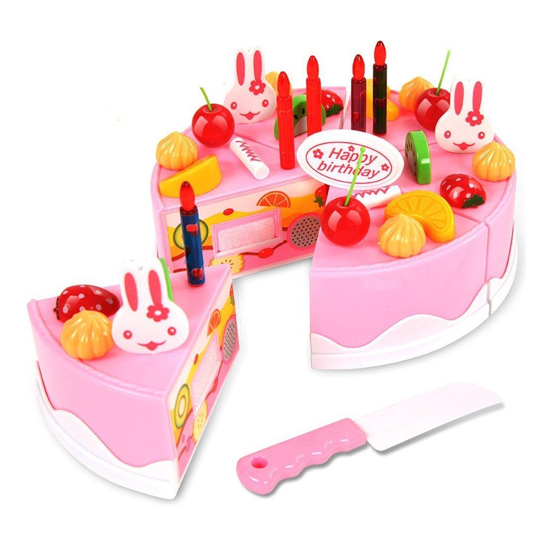 CalMyotis Spielzeug-Geburtstagskuchen Rosa