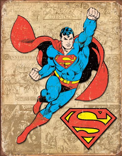 Tin Signs TSN1825-BRK Superman Weathered